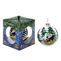 """Новогодний шар на елку """" Дед мороз на санях """" купить сувениры на новый год 2015"""