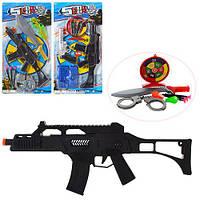 Набор оружия BJ228-2-4 (60шт) автомат37см,пули,3в(меч,пистолет,очки,наручники),на листе,28,5-52-3см
