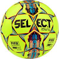 Мяч футбольный SELECT Brillant Super FIFA TB желто/красный