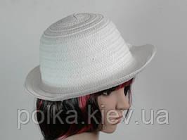 Соломенная шляпа Бебе 29 см белая