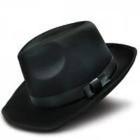 Шляпа Мужская черная