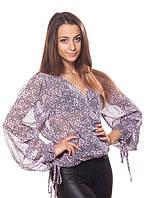 Эффектная женская блуза из шифона (L), фото 1