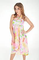 Розовое пляжное платье с принтом Amarea 609 One Size Розовый Amarea 609