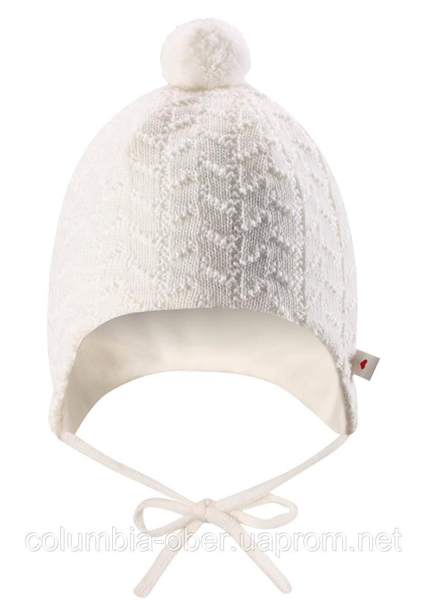 Вязанная шапка с помпоном Reima Lintu 518385-0110. Размер 34-44.