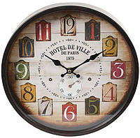 "Часы настенные ретро ""Hotel de Ville"" Ø30см"