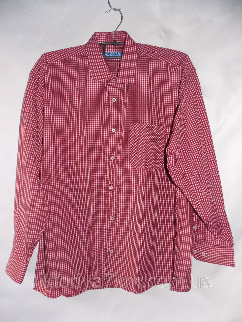 """Рубашка мужская в клетку """"Prest"""" RS2-5034"""