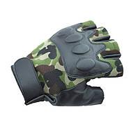 Легкие беспалые тактические перчатки дышащие Камуфляж, фото 1