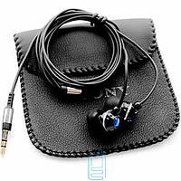 Наушники Sony EX-088 черные + кожаный чехол