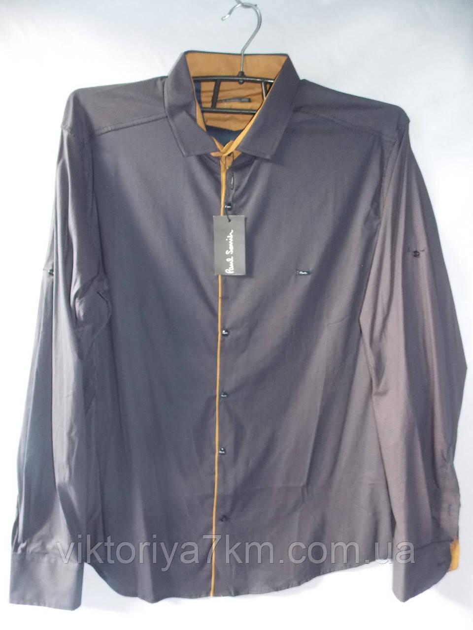 """Рубашка мужская серая длинный рукав """"Prest"""" RS2-5034"""