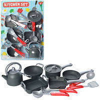 Посуда LN755A3  кастрюля2шт, сковородка2шт,чайник, кухон.принадлежности,на листе,30-43-9см