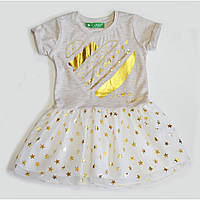 Платье с трикотажным верхом и пышной фатиновой юбкой 2202-003.06