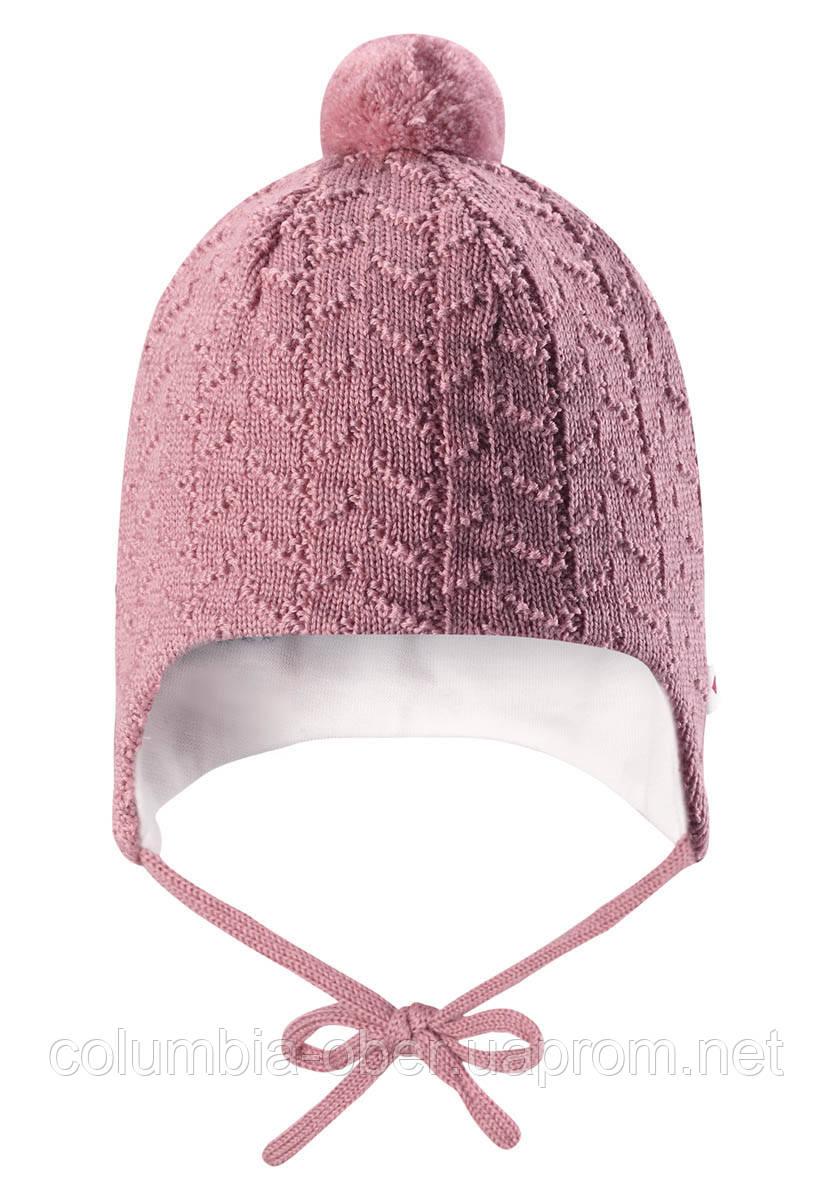 Вязанная шапка с помпоном Reima Lintu 518385-4320. Размер 34-44.