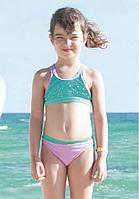 Детский купальник топ со стразами Vacanze Italiane VD 3458 110 Зеленый Vacanze Italiane VD 3458