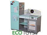 Деревянная кухня для детей Blue.Детская кухня  ECOTOYS , фото 3