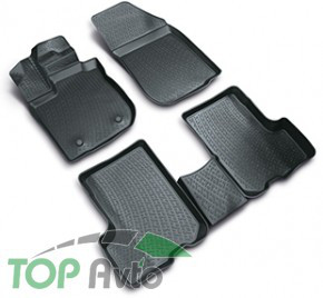 L.Locker Глубокие резиновые коврики в салон Renault Sandero 2013-
