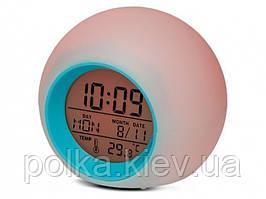 Часы будильник светодиодный хамелеон