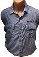 Мужские рубашки на длинный рукав джинсовая