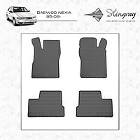Daewoo Nexia резиновые коврики Stingray Budget