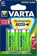 Аккумулятор VARTA RECHARGEABLE ACCU C 3000mAh BLI 2 NI-MH (READY 2 USE), 56714101402