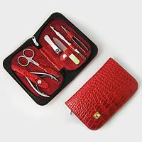 Чехол для маникюрных инструментов «Универсальный» 6 предметов, красный