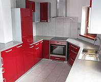 П - образная кухня стекло фото 10