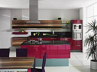 кухня шпон + стекло фото 12