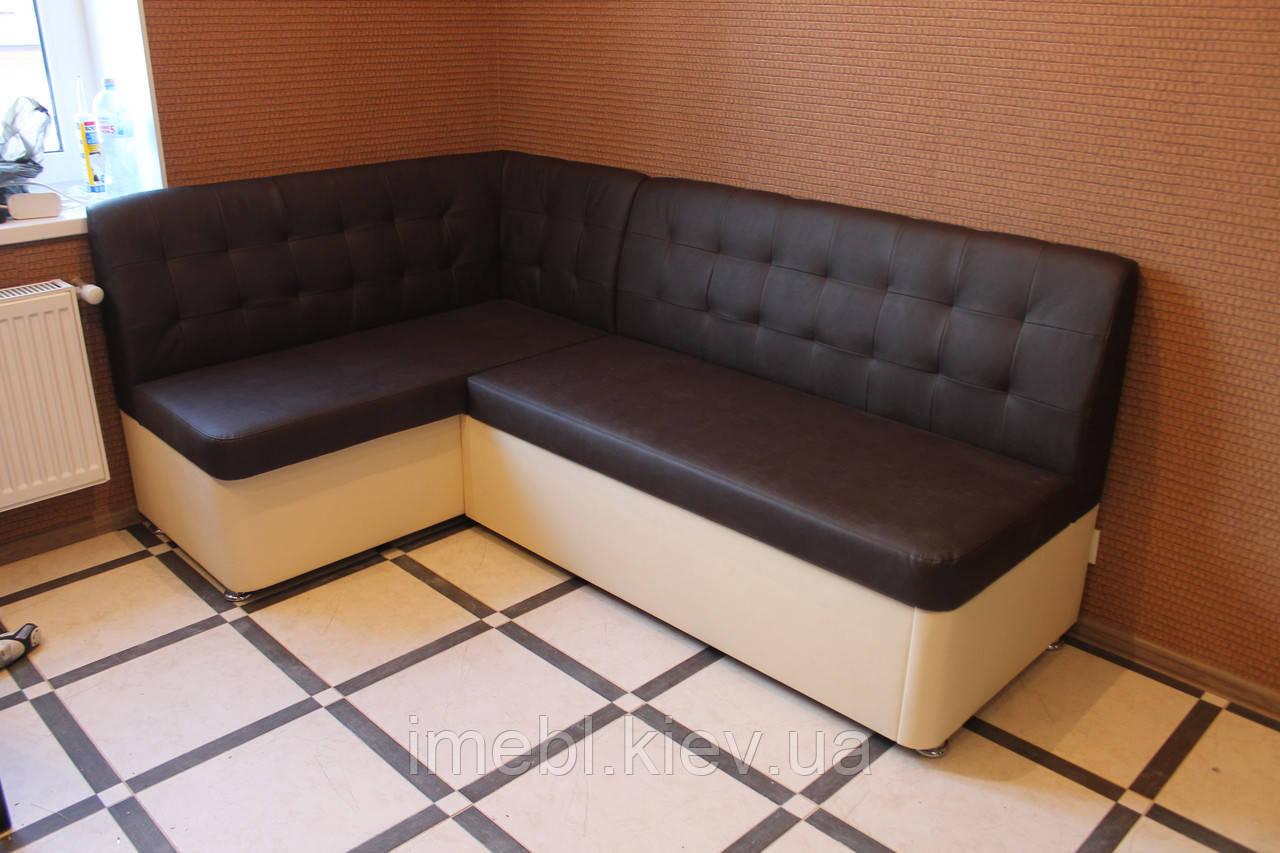 тёмно коричневый угловой диван для кухни под заказ на заказ размеры