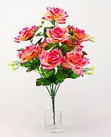 Роза раскрытая круговая 9 голов 60 см