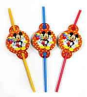 Трубочки для напитков Микки Маус  3 шт