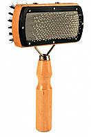 2305 Trixie Двухсторонняя щетка-пуходерка с наконечниками, 10х18 см