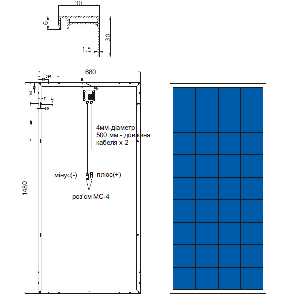 Солнечная батарея AXIOMA energy AX-150P 4BB