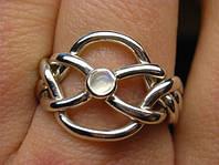 Серебряное кольцо головоломка с радужным лунным камнем от Wickerring