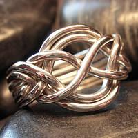 Серебряное кольцо головоломка от Wickerring