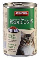 """Консервы Brocconis Cat """"С дичью и мясом домашней птицы"""" 7,5/4 (для взрослых кошек), 400г"""
