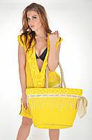 737e56afdcdc Пляжная сумка с кружевом Iconique KK 611 One Size Желтый Iconique KK 611