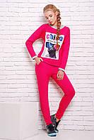 Спортивный розовый костюм КЛЭР ТМ Zefir 44-48 размеры