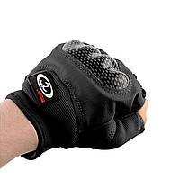 Тактические перчатки беспалые с защитным кастетом, фото 1