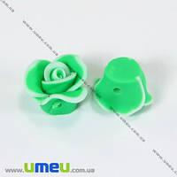 Бусина FIMO Цветок, 11х8 мм, Зеленая, 1 шт. (BUS-003310)