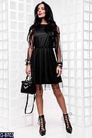 Женское платье с бусинками