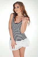 Платье-майка в полоску Ora 200105/4 42(S) Синий-Белый