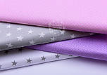 Ткань хлопковая с белыми точками 2 мм на розовом фоне (№761)., фото 5