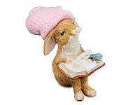 "Фигурка из полистоуна 6 см. ""Кролик с книгой"""