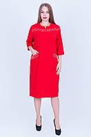Нарядное платье красного цвета в наличии размеры 52 54 56