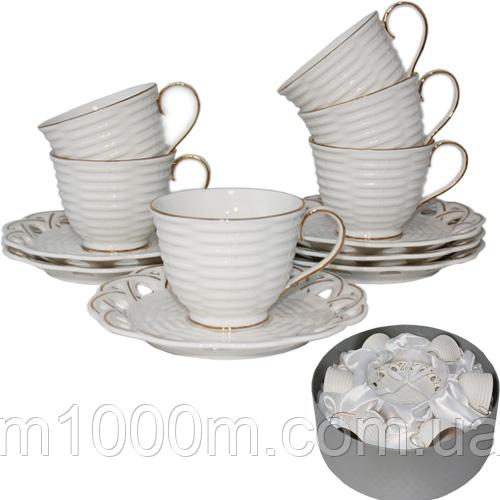 Набор Фарфоровый чайный Эстет 022-12-02