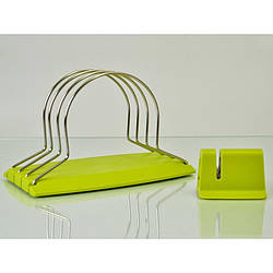Набор HILTON KS1+CBH1: точилка, подставка для крышек досок зеленая