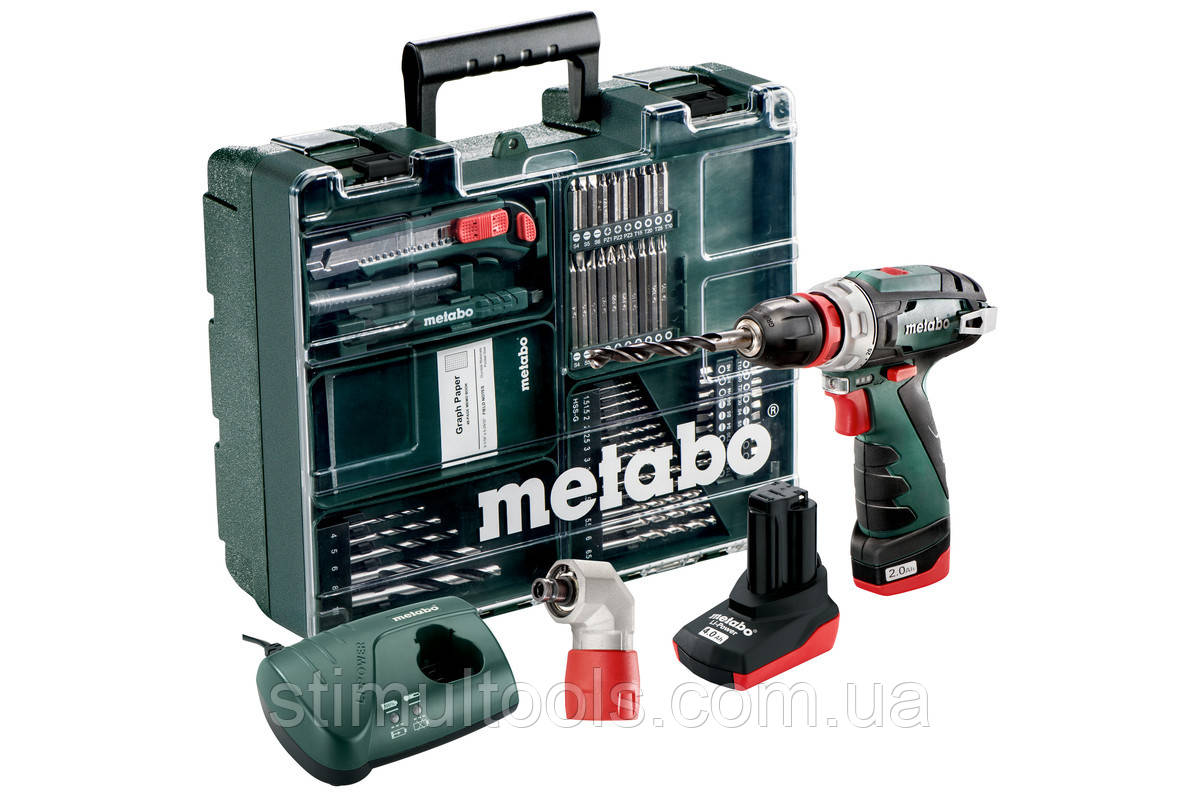 Аккумуляторный шуруповерт Metabo PowerMaxx BS Quick Pro Set (Мобильная мастерская)