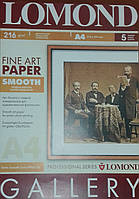 Двусторонняя ярко-белая матовая художественная фотобумага с гладкой поверхностью А4, 216 г/м2, 5 листов