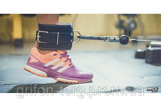 Манжета для ног кожаная F10 (для тяги на тренажере), фото 3