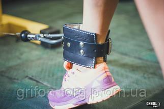 Манжета для ног кожаная F10 (для тяги на тренажере), фото 2
