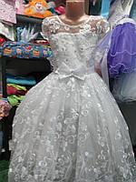 """Белое бальное платье """"Белоснежка""""7-12 лет, фото 1"""